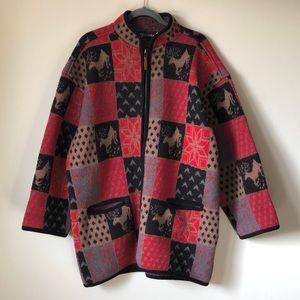 Tundra Canada pure virgin wool zip coatigan